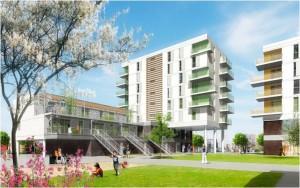 Vue du projet en cours Hérouville-Saint-Clair
